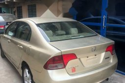 Nigeria Used Honda Civic 2007 Model Gold