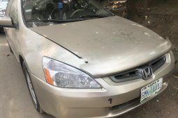 Nigeria Used Honda Accord 2003 Model Gold
