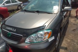 Foreign Used Toyota Corolla 2006 Model Gray