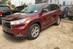 Foreign Used Toyota Highlander 2015 Model Red