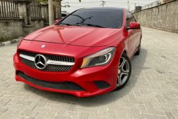Foreign Used 2014 Red Mercedes-Benz CLA-Class for sale in Lagos.