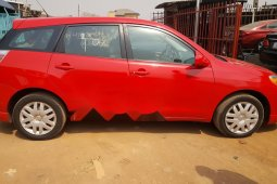 Foreign Used Toyota Matrix 2008 Model Red