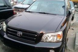 Foreign Used Toyota Highlander 2007 Model Black