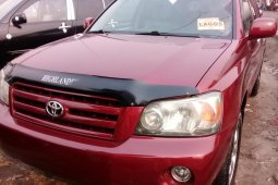 Foreign Used Toyota Highlander 2007 Model Red