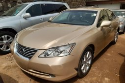 Foreign Used Lexus ES 2007 Model Gold
