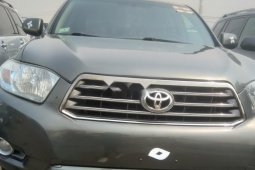 Foreign Used Toyota Highlander 2008 Model Gray