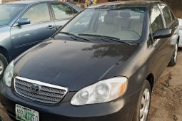 Nigeria Used Toyota Corolla 2004 Model Black
