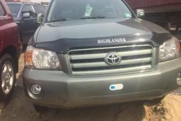 Foreign Used Toyota Highlander 2005 Model Green