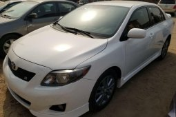 Foreign Used Toyota Corolla 2009 Model White