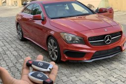 Nigeria Used Mercedes-Benz CLA-Class 2015 Model Red