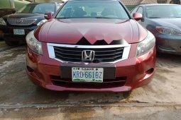 Nigeria Used Honda Accord 2008 Model Red