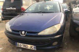 Foreign Used Peugeot 206 2005 Model Blue