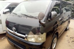 Foreign Used Toyota HiAce 2008 Model Black
