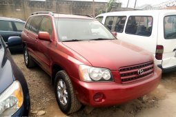Foreign Used Toyota Highlander 2003 Model Red