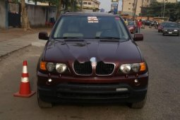 Foreign Used BMW X5 2001 Model Red