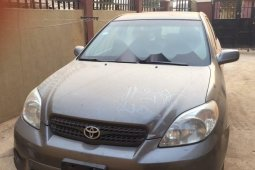 Nigeria Used Toyota Matrix 2003 Model Gray