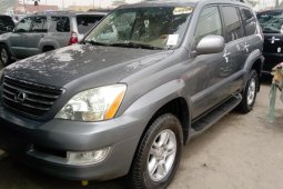 Foreign Used Lexus GX 2004 Model Gray