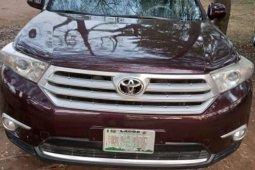 Nigeria Used Toyota Highlander 2012 Model Red