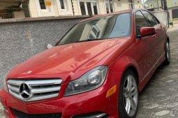 Tokunbo Mercedes-Benz C300 2013 Model Red