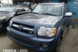Foreign Used 2007 Dark Grey Toyota Sequoia for sale in Lagos.