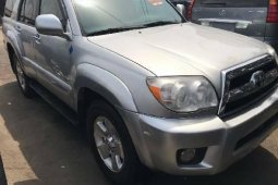 Foreign Used Toyota 4-Runner 2008 Model Silver