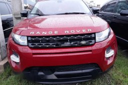 Foreign Used Land Rover Range Rover Evoque 2013 Model Red