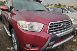 Foreign Used Toyota Highlander 2009 Model Red