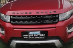 Nigeria Used Land Rover Range Rover Evoque 2013 Model Red