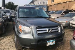 Foreign Used Honda Pilot 2007 Model Gray