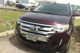 Foreign Used Ford Edge 2011 Model Purple