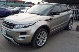 Nigeria Used Land Rover Range Rover Evoque 2013 Model Gold