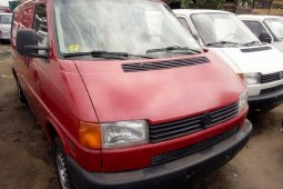 Foreign Used Volkswagen Transporter 2002 Model Red