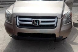 Foreign Used Honda Pilot 2007 Model Gold