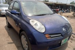 Nigeria Used Nissan Micra 2005 Model Blue