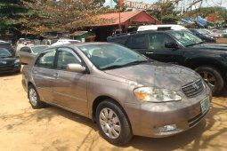Nigeria Used Toyota Corolla 2004 Model Gray