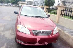 Foreign Used Toyota Corolla 2008 Model Red