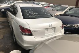 Tokunbo 2008 White Honda Accord for sale in Lagos.