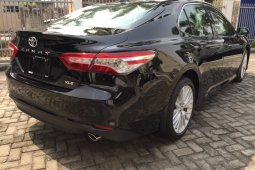 Brand New 2018 Black Toyota Camry for sale in Lagos.