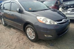Foreign Used 2008 Dark Grey Toyota Sienna for sale in Lagos.