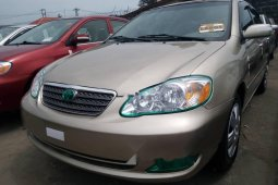 Foreign Used 2007 Gold Toyota Corolla for sale in Lagos