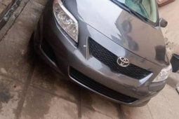 Foreign Used 2008 Grey Toyota Corolla for sale in Lagos.