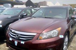 Foreign Used 2008 Maroon Honda Accord for sale in Lagos