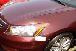 Foreign Used 2008 Maroon Honda Accord for sale in Lagos.