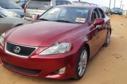 Foreign Used 2008 Maroon Lexus IS for sale in Lagos