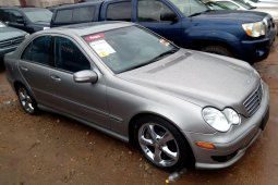 Foreign Used 2005 Silver Mercedes-Benz C230 for sale in Lagos.