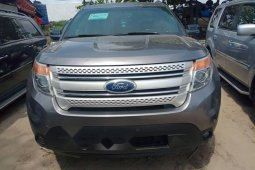 Foreign Used 2012 Grey Ford Explorer for sale in Lagos.