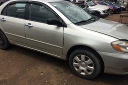 Locally Used 2004 Silver Toyota Corolla for sale in Lagos.