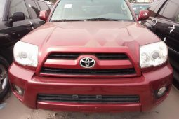 Foreign Used Toyota 4-Runner 2006 Model Red
