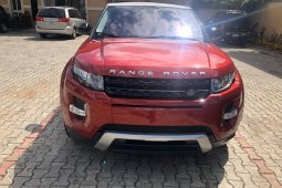 Foreign Used Land Rover Range Rover Evoque 2015 Model Red