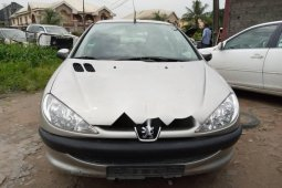 Foreign Used 2002 Grey Peugeot 206 for sale in Lagos.